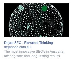 Facebook ad example right hand column