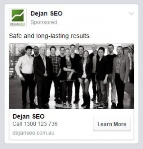 Facebook ad example mobile